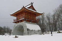 Water 3/8: Snow covered Temple (Beckywithasmile) Tags: orange snow water festival japan temple snowshoeing february snowfestival 2010 yukimatsuri photochallenge beckywithasmile orangetemple february2010 snowshoeingadventure