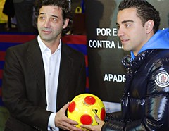 UNHCR News Story: Spanish football star Xavi pledges support for refugees in Africa (UNHCR) Tags: poverty barcelona news football spain europe boots soccer refugees worldcup awareness athlete information fcbarcelona disease midfielder unhcr malaria newsstory humanitarianaid infantmortality carlespuyol jordipuig xavihernández waterbornediseases unrefugeeagency play4africa lackofsportsopportunities especiallyhivandaids