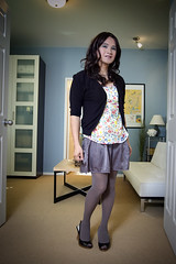 feb 17 (bethantics) Tags: wardroberemix whatiworetoday wedgeheels flareskirt greytights greyskirt