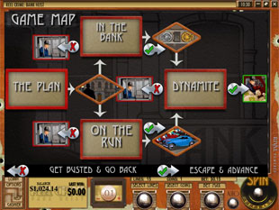 free Reel Crime 1 Bank Heist slot map