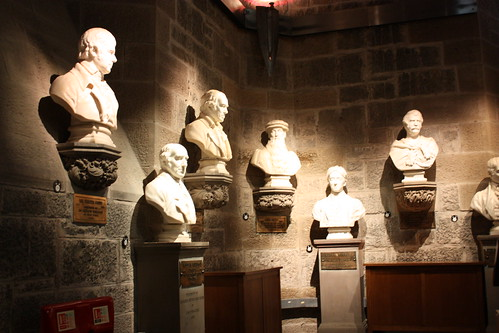 The hall of Scottish heroes, which sadly did NOT include a bust of Sean Connery.