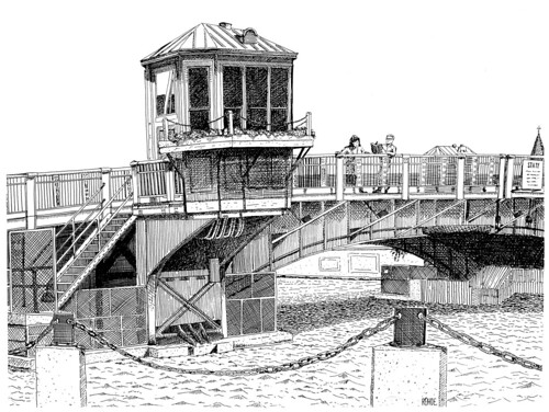 Milwaukee State Street Bridge Illustration