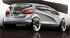 Neuer Opel Meriva - Designsketch