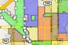 Lakeland Florida Neighborhood map c