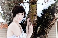Cold and White (GenelLynne) Tags: winter white snow beauty model soft frost bright young crisp bj naturalbeauty michaela lynne truecolors genel snowprincess glphotography genellynne