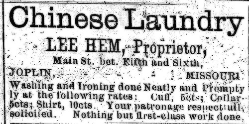 Ad for Chinese Laundry