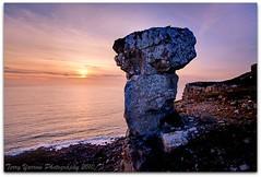 Relic of a quarrying age - St Aldhelm's Head (TDR Photographic) Tags: uk sunset sea chimney england canon landscape coast rocks dorset quarry eos5d dorsetcoastpath staldhelmshead