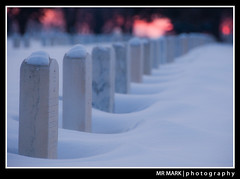 Pillowey Blankets of Snow, Fort Snelling National Cemetery, Minneapolis, MN (MR MARK | photography) Tags: winter snow cold cemetery minnesota sunrise minneapolis national blankets mn fortsnelling pillowey