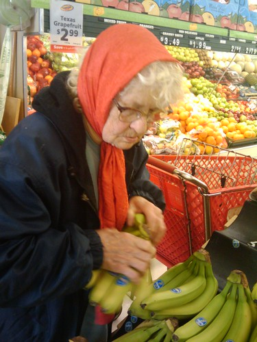 02/24/10 grandma with bananas at Save A Lot