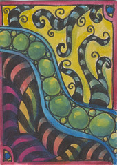 Peas N Stripes Zentangle
