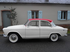 SIMCA Elyse P60 (xavnco2) Tags: auto old france classic cars car vintage perfil voiture historic oldtimer common classiccars profil picardie simca epoca vecchia twotone somme p60 elyse classica vecchie bicolore storiche gavap montignysurlhallue