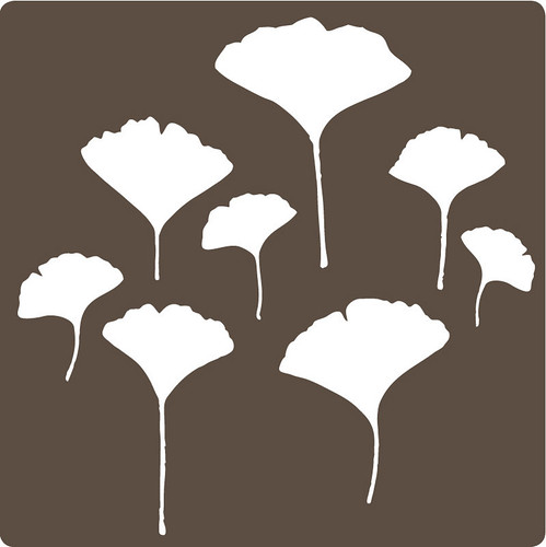 ginkgo wall sticker/decal