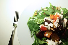 Thumbnail image for Spinach, Beet and Walnut Salad