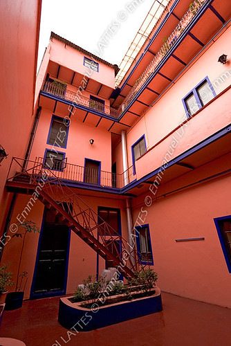 Arričre-cour de l'hôtel Isabel (Mexico, Mexique).