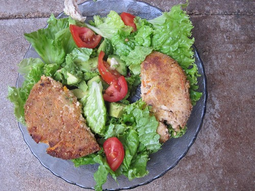 Veggie Burger on Salad