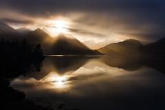 Golden Dawn (BarneyF) Tags: reflection sunrise golden scotland highlands ray scottish loch sunbeam duich