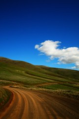 Mountain Ranch Road (bignastyweather) Tags: road weather clouds season day country great hunting sunny hills dirt cumulus dirtroad hillside humilis wildflower hoo thedalles whoo cumulushumilis wildflowerseason thedallesmountainranch wildflowerhunting 6stopbwnd