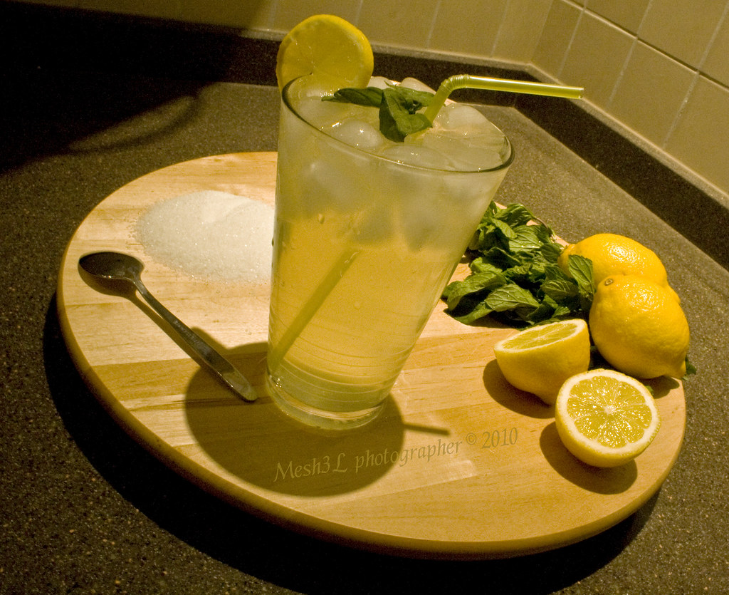 Have a Fresh lemon  juice !
