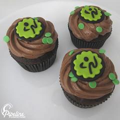 Zumba Logo Cupcakes -- fondant chocolate cupcakes buttercream logos cake zumba logo