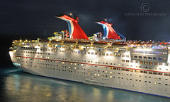 Carnival Cruise Ship Night Shot (thejeffreywscott) Tags: cruise carnival reflections lowlight nightshot cruiseship nassau carnivalcruise carnivalcruiselines carnivalimagination mywinners thebestofday gnneniyisi