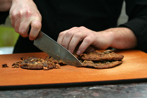 chopping cookies