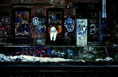 Bebe as Graffiti (tumultuouswoman) Tags: blue light sunset shadow red portrait sky peo