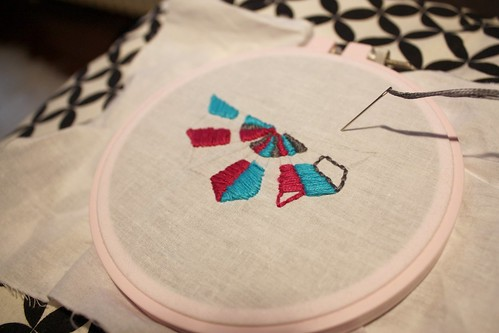 Step 4: Embroider! (using satin stitch, no filler)