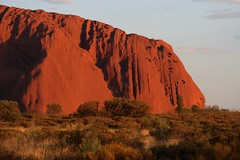 Uluru - The sleeping lion (Heaven`s Gate (John)) Tags: travel sunset red mountain nature rock sandstone peaceful australia icon outback uluru aboriginal monolith tranquil northernterritory ayersrock 10faves johndalkin heavensgatejohn thesleepinglion