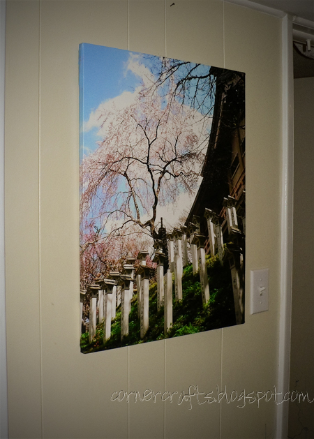 canvas picture japan mt yoshino cherry blossoms sakura