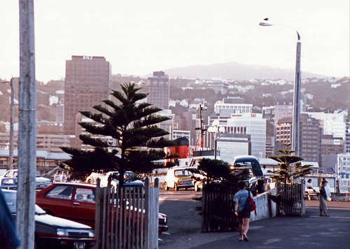 City of Wellington New Zealand pictured in 1991