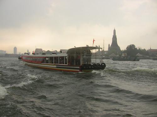 Bangkok boat, river scene