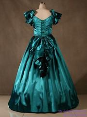 Green dress to die for (Sabrina Satin1) Tags: feminine sissy crossdresser ballgown crossdressingfantasy
