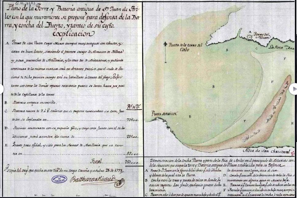 BARRA RIA DE  AVILES 1771 1