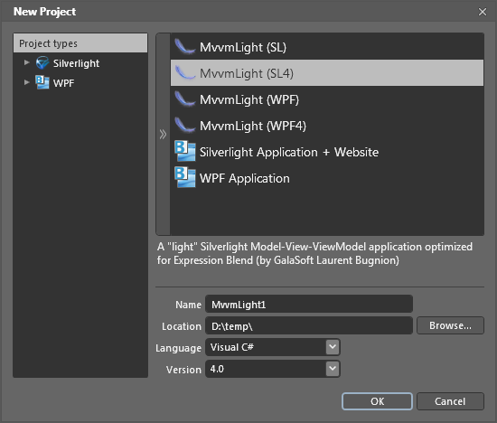 MVVM Light templates in Blend 4