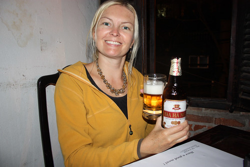 Marion and her beer