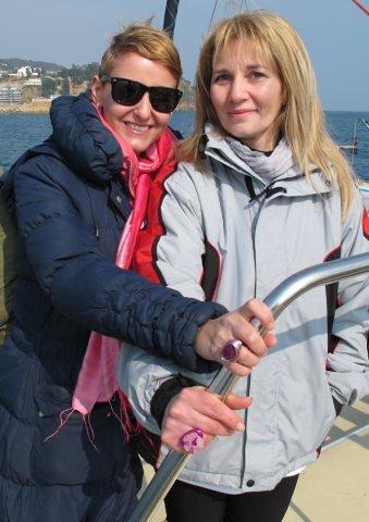 Con Vania, la madre de Victoria, luciendo nuestros anillos eNe