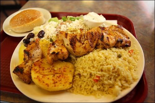 Photo review by PhotograFIST:  Chicken souvlaki dinner. Mmm