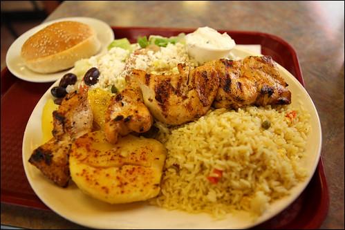 Photo review by PhotograFIST:  Chicken souvlaki dinner. Mmm
