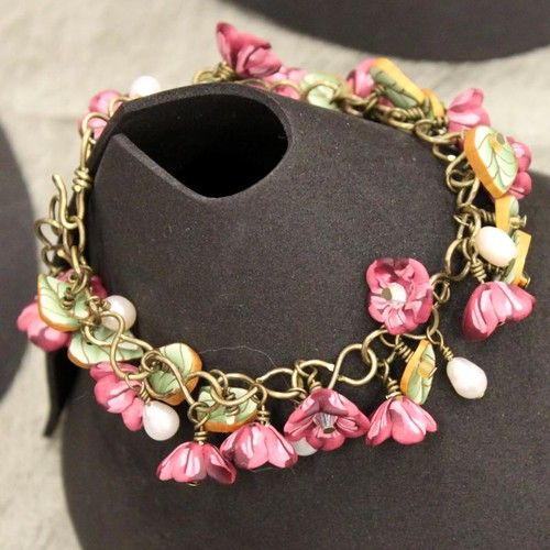 Dangly Floral Charm Bracelet