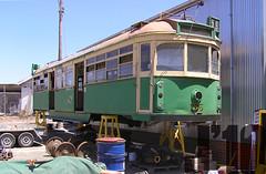 SW5 785  sits stored @Bendigo ~23.01.09 (James 460) Tags: w transport tram publictransport themet bendigo sw5 wclass 785 trammuseum melbournetram wclasstram stored bendigotrammuseum sw5785 storedtram