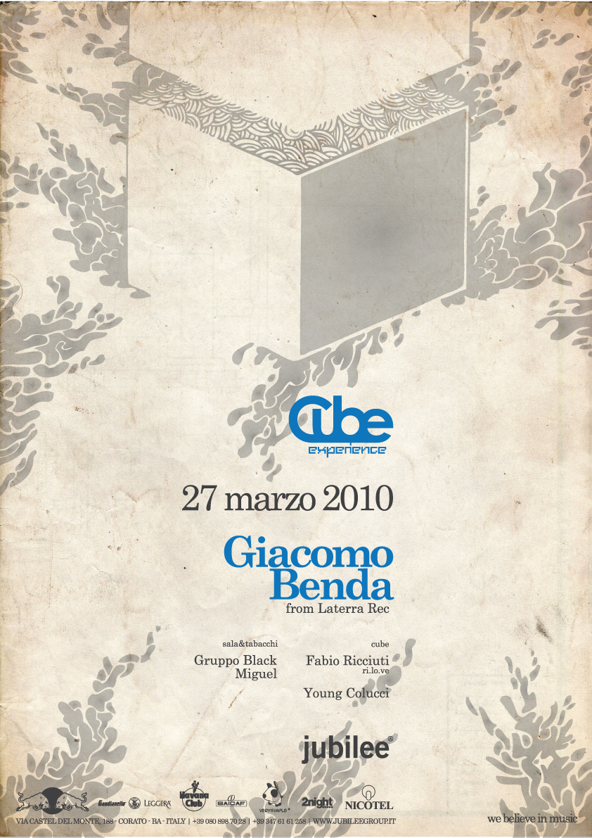 Jubilee Club - 27/03/10 - Special Guest Giacomo Benda