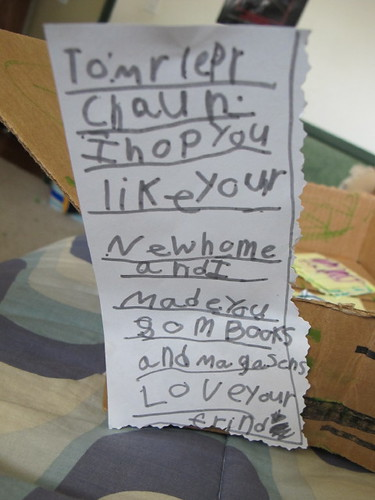 The note left for the leprechaun