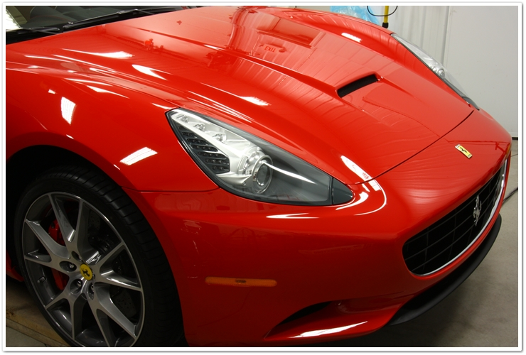 Ferrari California: Prepped with CG Vertua-Bond, then topped with E-zyme Natura Wax