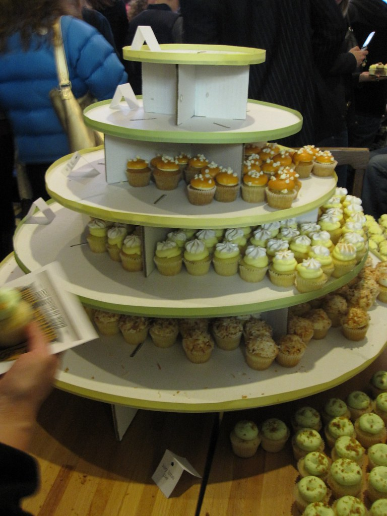 tower of mini cupcakes