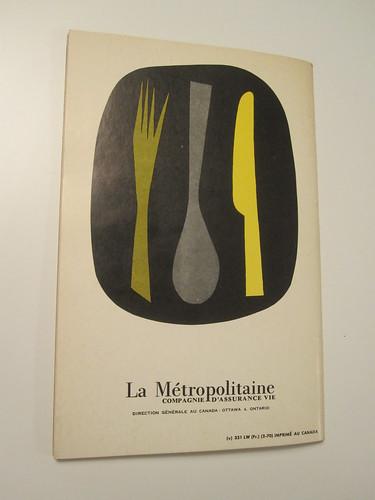 Livre de cuisine de la Métropolitaine - back