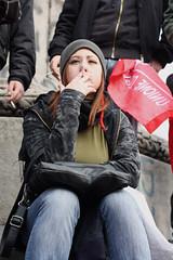In Italia non c'è gusto ad essere intelligenti. (Pamela Orrico) Tags: campania no napoli 12 marzo futuro 2010 degli scuola studenti unione corteo tagli riforma studentesco gelmini