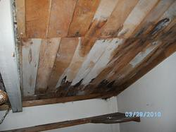 right side of upstairs bedroom ceiling