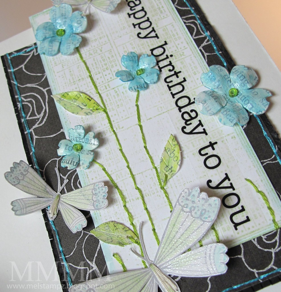 Caardvarks photo inspiration with book page Mod Podge blossoms mel stampz