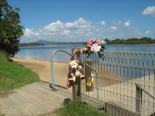 Memorial to a drowned child
