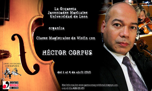 CLASES MAGISTRALES DE HÉCTOR CORPUS EN LEÓN